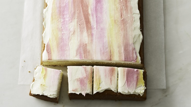 ombre frosting sheetcake
