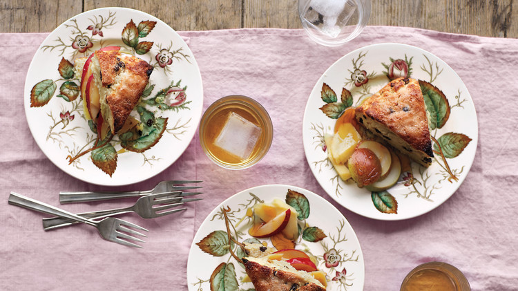 Scones with Pears, Irish Cheddar, and Honey