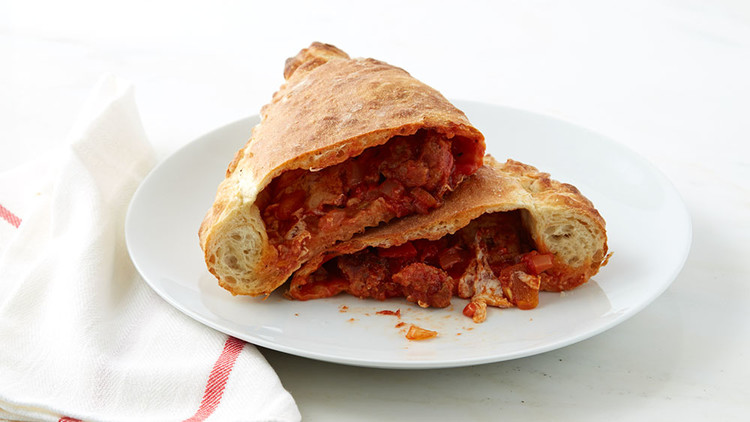 Sausage-Roasted Pepper Calzone