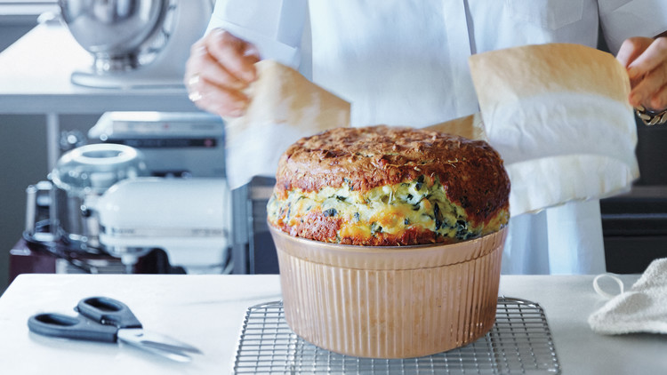 Cheese-and-Kale Souffle
