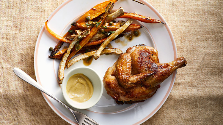 Roasted Game Hen with Root Vegetables
