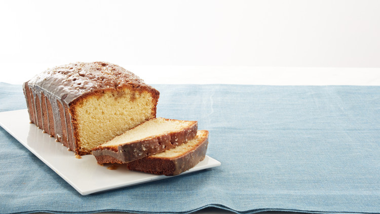 Buttery Pound Cake with Salty Caramel Glaze