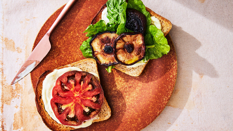 Vegetarian BLT with Roasted Shiitake Mushrooms Lauryn Tyrell