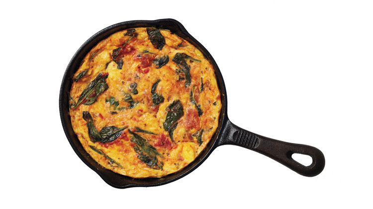 Salsa and Spinach Frittata
