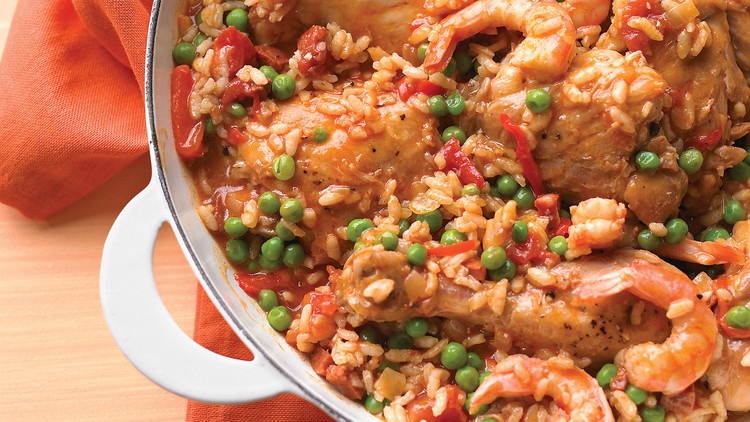 Easy Chicken and Shrimp Paella