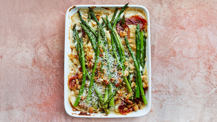 Asparagus and Potato Gratin