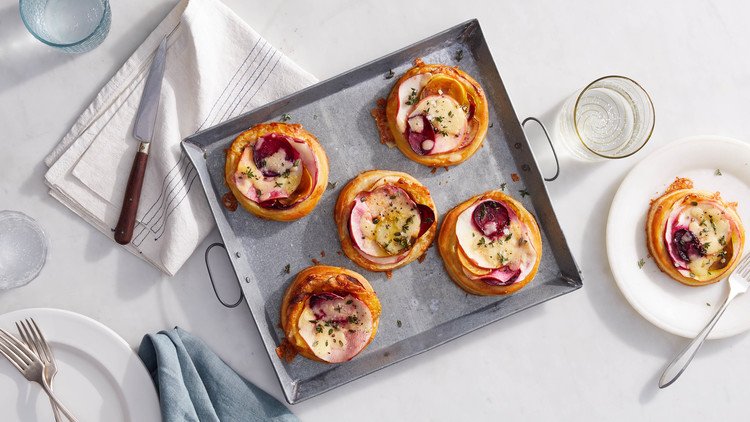 beet cheddar apple tarts