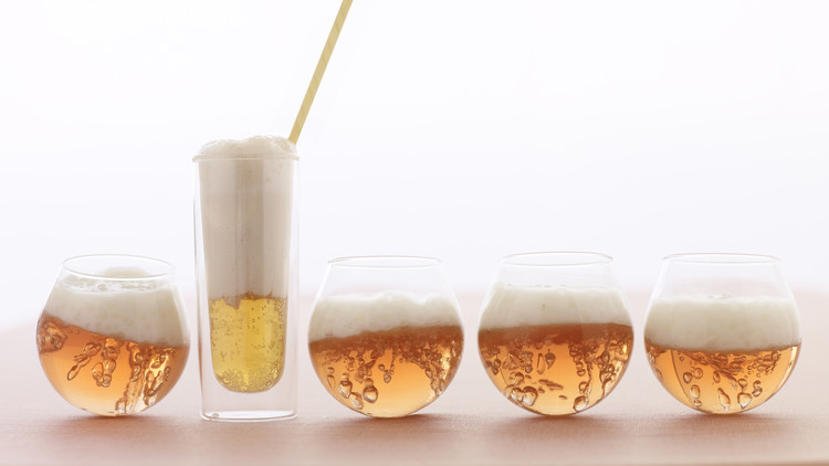 Rose Champagne Gelee and Tapioca Parfaits