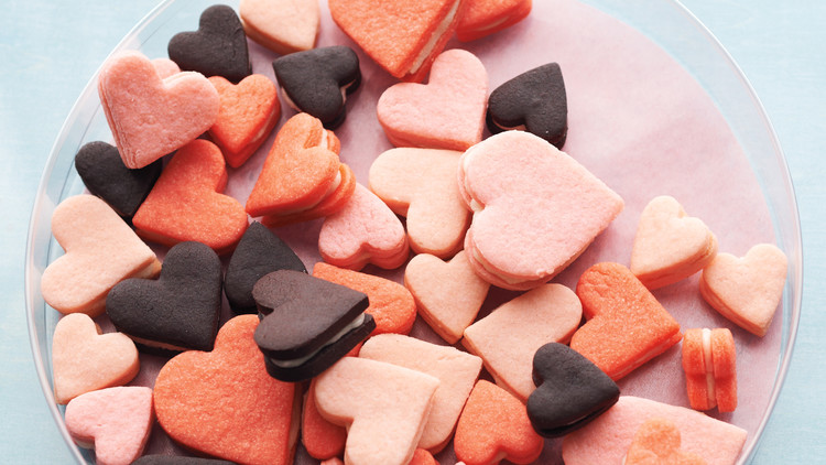 Pink Heart Sandwich Cookies