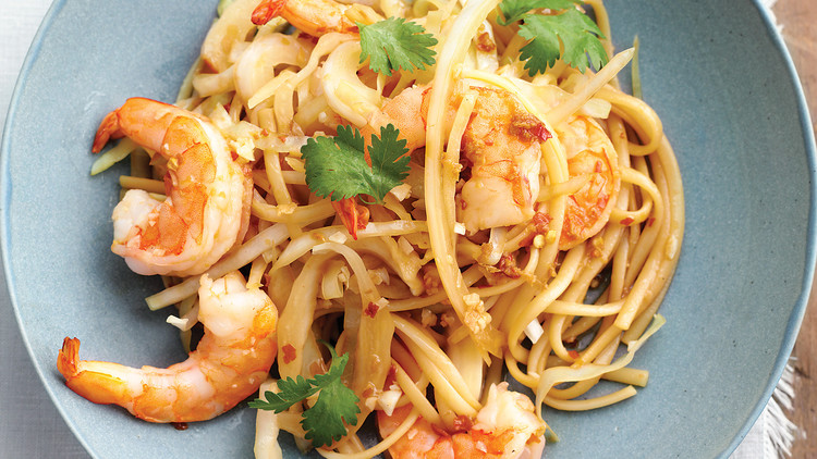 Shrimp and Cabbage Lo Mein