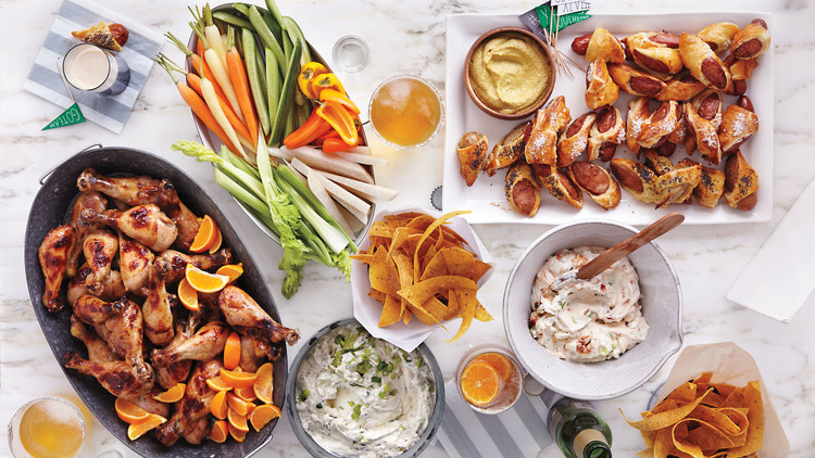 Love Dip with Tortilla Chips and Crudites