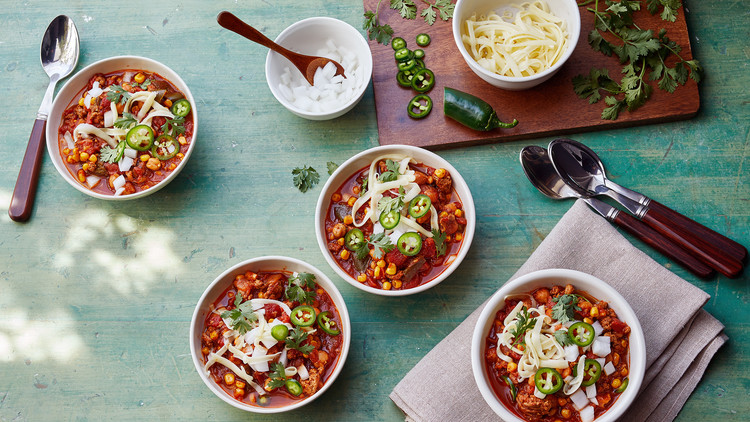 instant-pot turkey chili and add-ins
