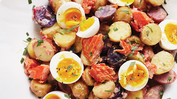 Smoked-Salmon Potato Salad With Eggs and Herbs