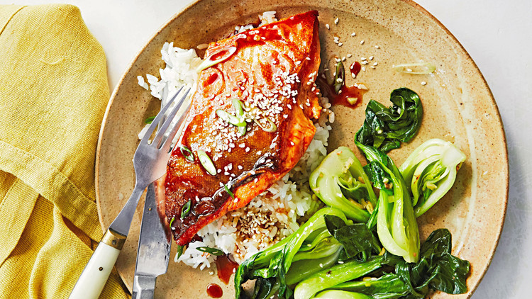 soy-honey-glazed arctic char