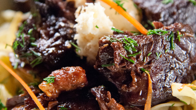 Beef Stew with Fresh Horseradish