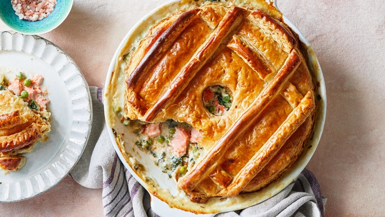 Salmon and Spinach Potpie