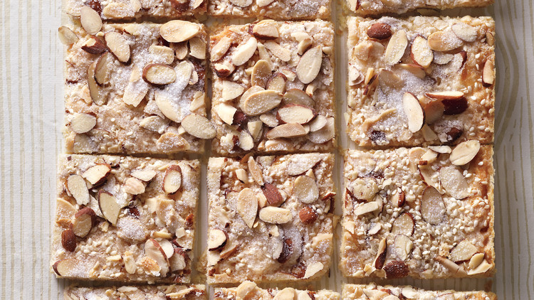 Gingered Sesame-Almond Shortbread Bark