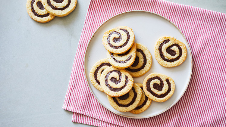 Coconut-Chocolate Pinwheel Cookies