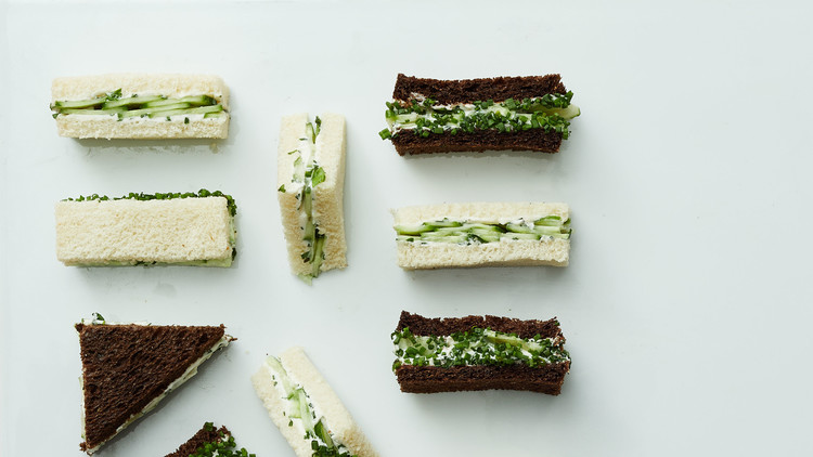 Vegan Cucumber Tea Sandwiches