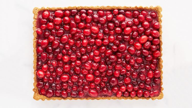 Nut-Crusted Cranberry Tart