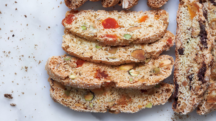 Pistachio, Papaya, and Ginger Biscotti