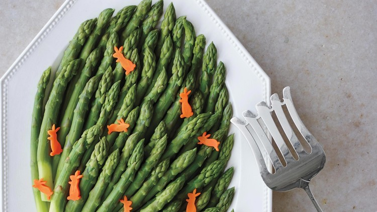 Asparagus with Mustardy Vinaigrette