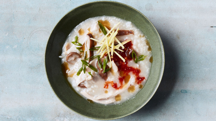Chicken-and-Mushroom Congee