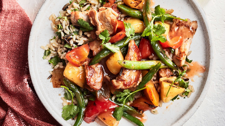Spicy Pork-and-Pineapple Stir-Fry