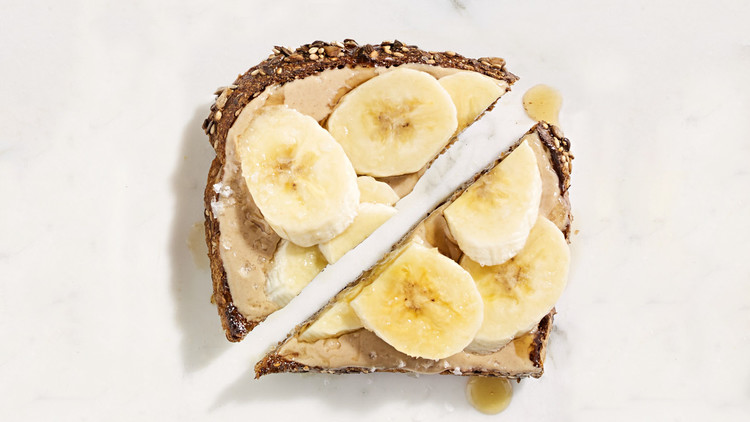 Tahini, Banana, and Maple-Syrup Toast