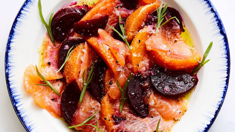 Arctic Char Carpaccio with Beets and Citrus