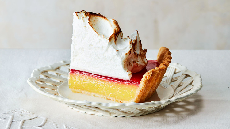 Lemon-Cranberry Meringue Pie