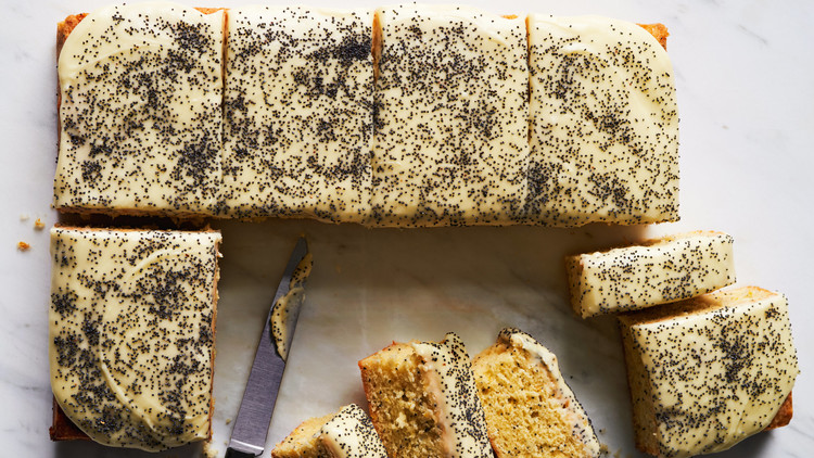 orange-and-poppy-seed sheet cake recipe