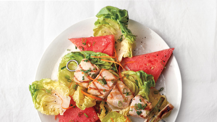 Swordfish with Watermelon and Lime-Ginger Citronette