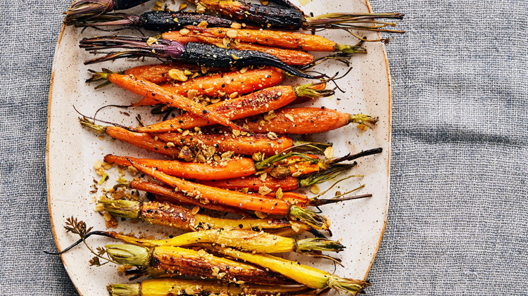 oat dukkah roasted carrots