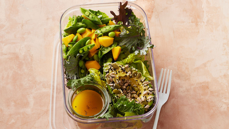 Avocado, Mango, and Toasted Seed Salad