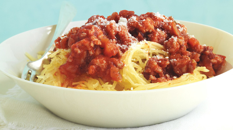Quick Turkey Bolognese with Spaghetti Squash