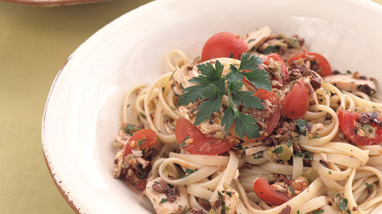 Linguine with Two-Olive Tapenade