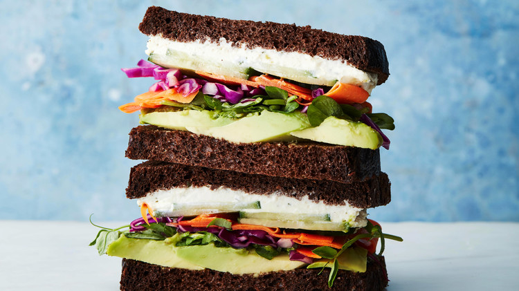 avocado and boursin sandwiches