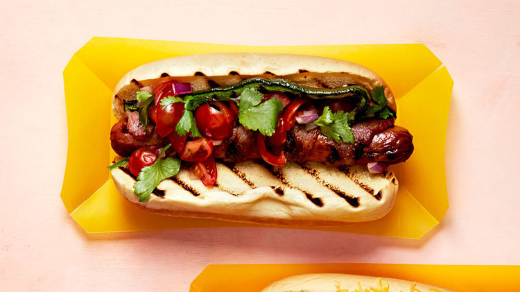 California Bacon-Wrapped Dogs