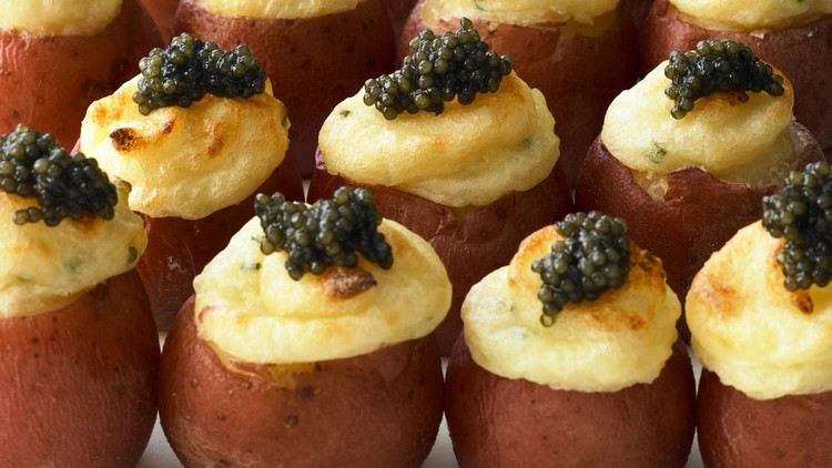 Twice-Cooked Potatoes with Caviar