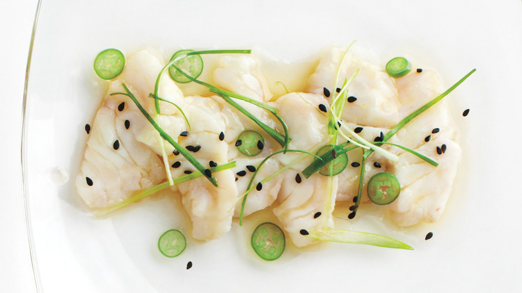 Ceviche with Scallion and Sesame