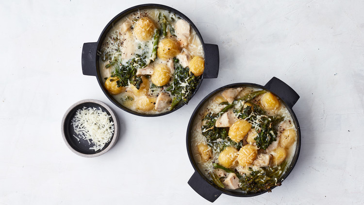 Chicken-and-Gnocchi Bake with Broccolini