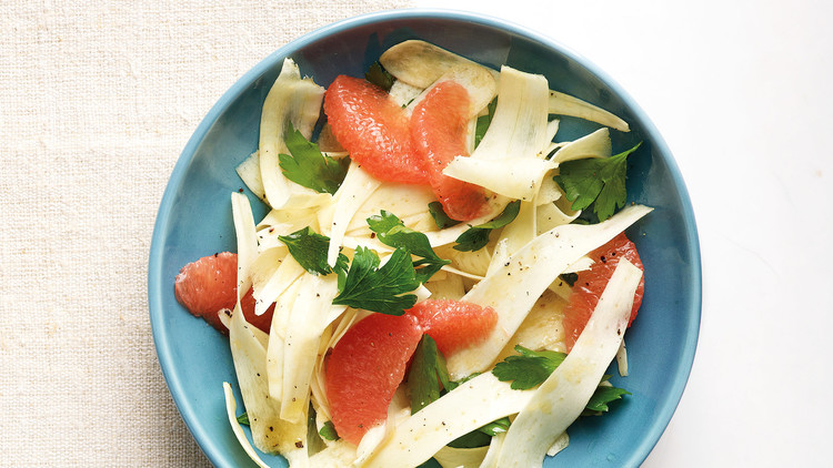 Shaved Parsnip and Grapefruit Salad
