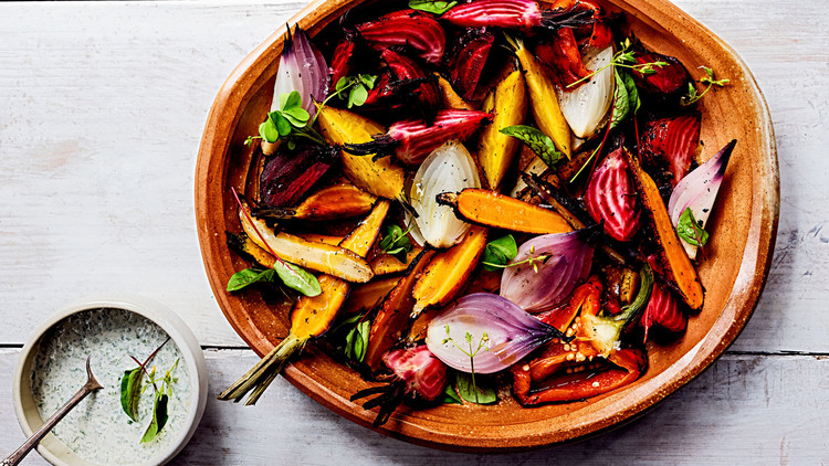 Coal-Roasted Vegetables