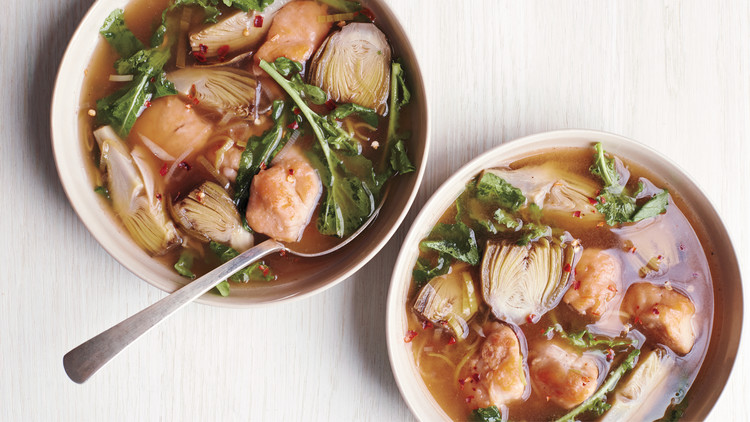 Baby-Artichoke and Chicken Soup