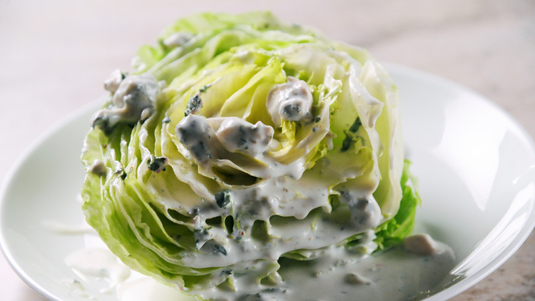 Iceberg Wedges with Creamy Blue-Cheese Dressing