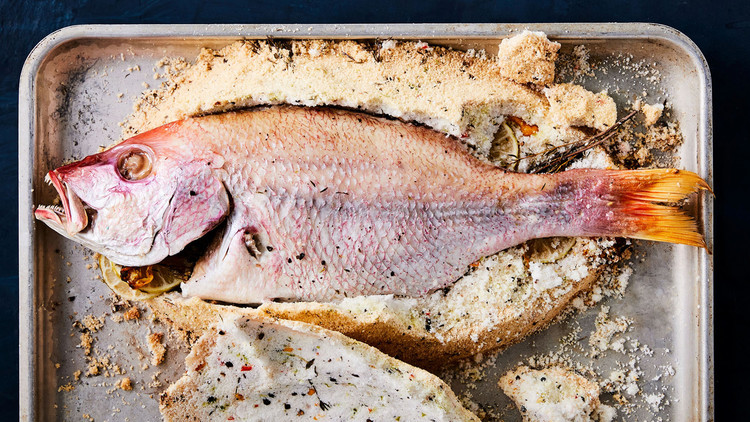 Salt-Roasted Snapper with Caribbean Spices