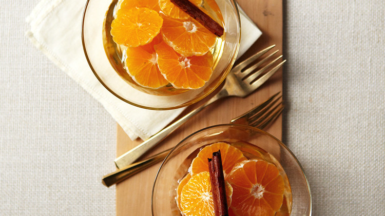 Clementines in Cinnamon Syrup