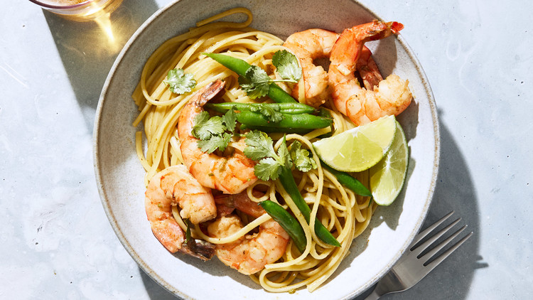 Thai-Curry Shrimp Linguine