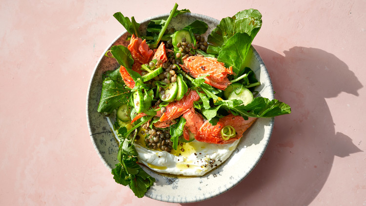 Curried Lentil-Salmon Salad